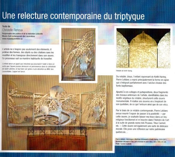 Le retable de Pierre Leblanc par Christelle Renoux