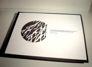 Papier découpée & citation-Pierre Leblanc