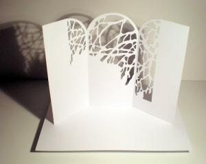 Sculpture papier de Pierre Leblanc.