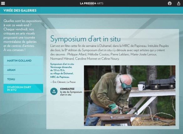 La Presse_Symposium dart in situ_Pierre Leblanc sculpteur