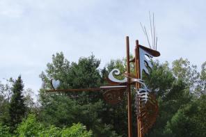 Pierre Leblanc sculpteur_Hommage Tinguely_Duhamel in situ