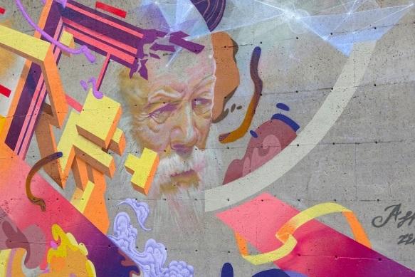 Murale_Le sage et la muse