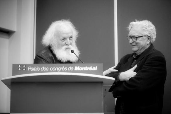 Pierre Leblanc sculpoteur et Winston McQuade